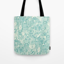 canadian animals teal pearl Tote Bag