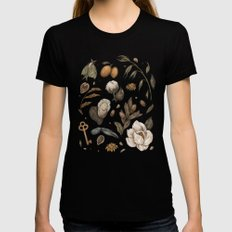 Georgia Nature Walks SMALL Black Womens Fitted Tee