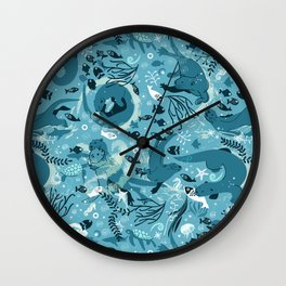 From one otter to another Wall Clock