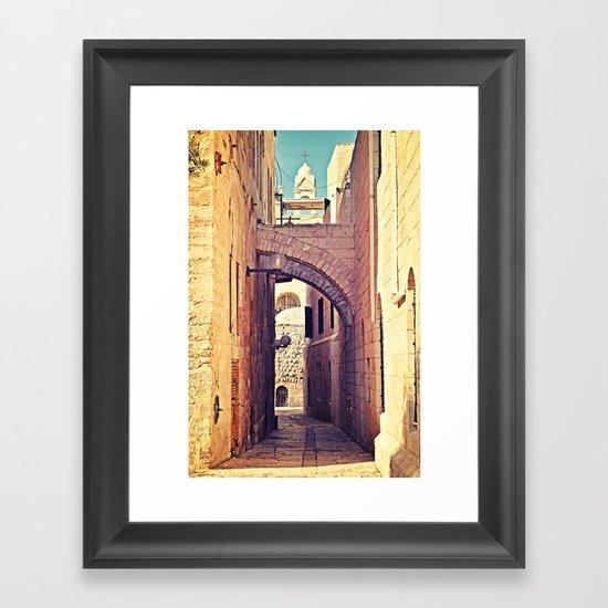 Jerusalem Alley Framed Art Print