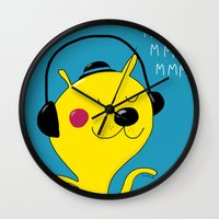 dj Wall Clocks featuring dj by Sucoco
