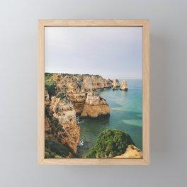 Ponta da Piedade, Lagos, Portugal Framed Mini Art Print