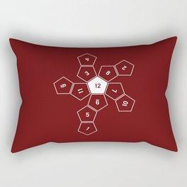 Unrolled D12 Rectangular Pillow