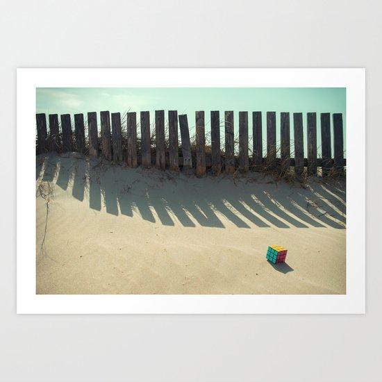 Rubik shading in the beach Art Print
