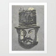 Old man hatten Art Print