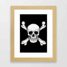 Jolly Roger - Deaths Head Pirate Skull Charge Framed Art Print