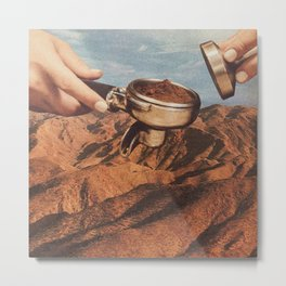Barista Coffee County Metal Print