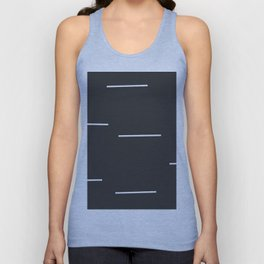 Black Mudcloth white dashes Unisex Tank Top