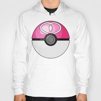 pokeball Hoodies featuring Love Pokeball by Amandazzling