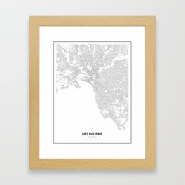 Melbourne, Australia Minimalist Map Framed Art Print