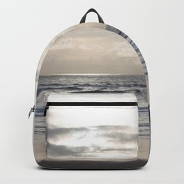 Silver Scene ~ Paint Daubs Effect Backpack