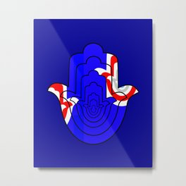 Pop Art Hamsa Hand Metal Print