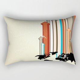 "Glue Network Print Series ""Economic Development"" Rectangular Pillow"