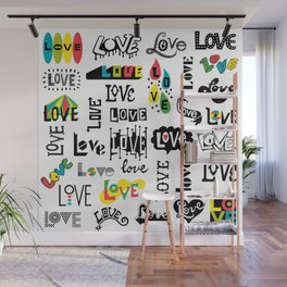 More Love Words Wall Mural