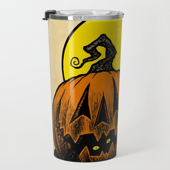 Still Life with Feline and Gourd Travel Mug