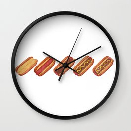 Evolution of A Hotdog Wall Clock