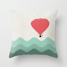 The Hot Air Balloon {The Boring Afternoon Design Series} Throw Pillow