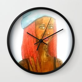 Fille au bonnet Wall Clock