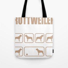 Stubborn Rottweiler Tricks design Tote Bag