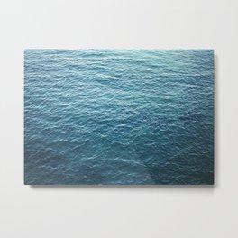 "Travel photography ""Blue ocean waves"" | Fine art Photo Print | Modern Wall art | Wanderlust Ibiza Metal Print"