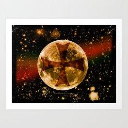 A Templar Night 003 Art Print