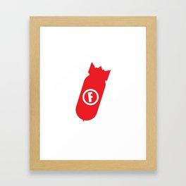 F Bomb Framed Art Print