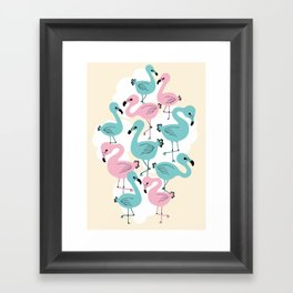 Flamingo Go Go Framed Art Print
