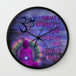 Boundless Buddha Wall Clock