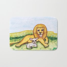The Lion and the Lamb Bath Mat