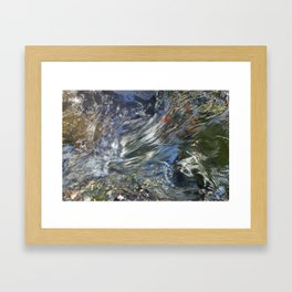 Flowing Water Framed Art Print