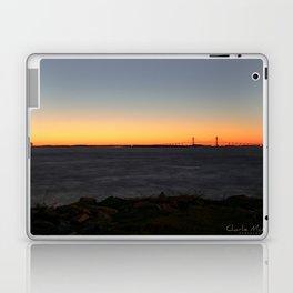 Jekyll Island Bridge at sunset Laptop & iPad Skin