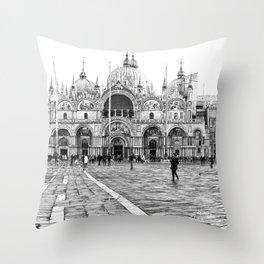 Basilica of Saint Mark Throw Pillow
