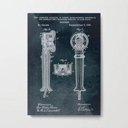 1886 - Telephone patent art Metal Print