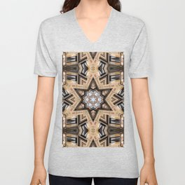 Architectural Star of David Unisex V-Neck