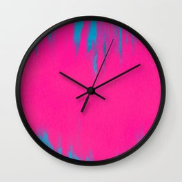 Pink and Blue Abstract 42 Wall Clock