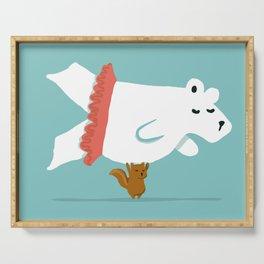 You Lift Me Up - Polar bear doing ballet Serving Tray