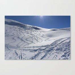 Tracks On Tincan Canvas Print