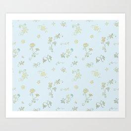Fancy Flowers Art Print