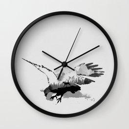 Fantasy Eagle - Landscape inside Wall Clock