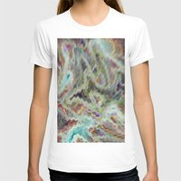 monet T-shirts featuring Monet Style Pastel Abstract by David Pyatt
