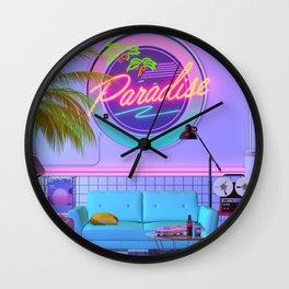 Paradise Wave Wall Clock
