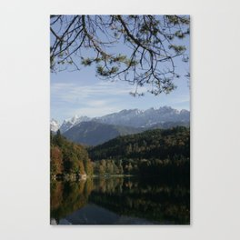 Hechtsee in the Brandenberger Alps, Tirol, color photo Canvas Print