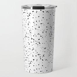 Speckles I: Black on White Travel Mug