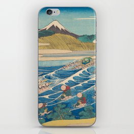 Katsushika Hokusai - Fuji Seen from Kanaya on the Tōkaidō iPhone Skin