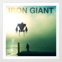 iron giant Art Prints featuring Iron Giant - Colour by Jonah & Cameron Cawston