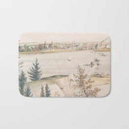 Vintage Pictorial View of Trenton NJ (1851) Bath Mat