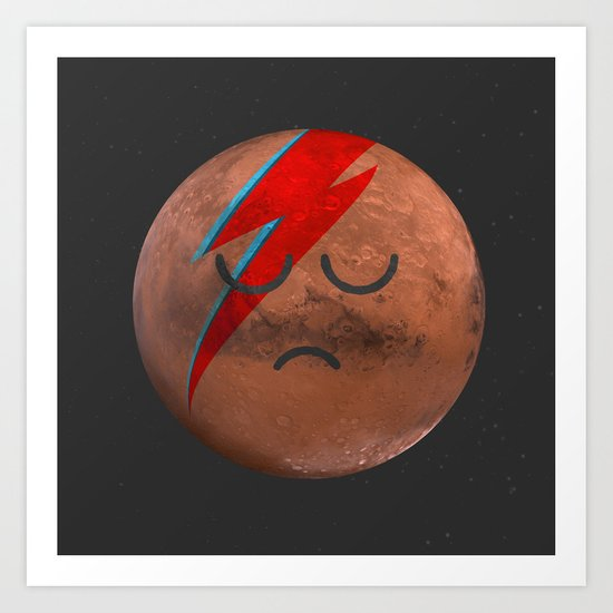 Life on Mars? Art Print