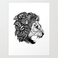 leon Art Prints featuring Leon by Artful Schemes