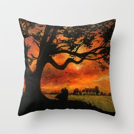 Gone with da wind postage stamp Throw Pillow