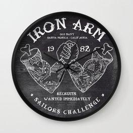 Iron Arm Wall Clock